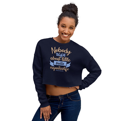 Navy Blue Women's Cropped Sweatshirt - Little Butts