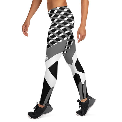 Geometric White&Grey exercise leggings. #FITGIRL