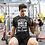 Thumbnail: Mens Dark Heather    Gym is like a woman premium T-Shirt