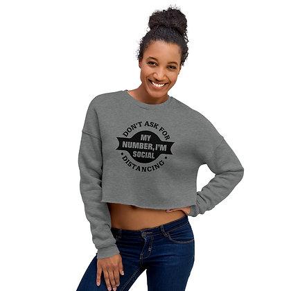 Deep Heather Women's Cropped Sweatshirt - Social Distancing
