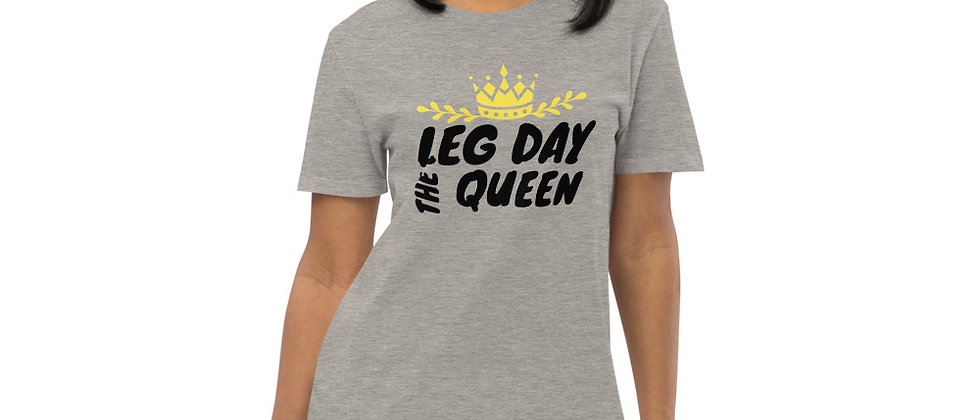 Womens Heather Grey Dress Tee | Leg Day