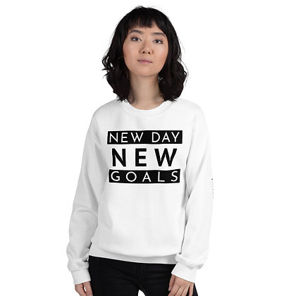 White New Day New Goals Sweatshirt