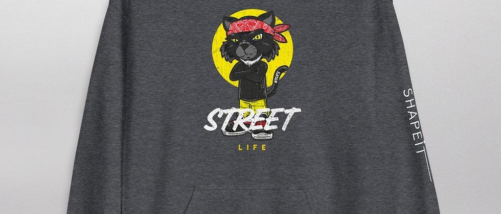 Dark Heather Shapeit Hoodie   Street Life