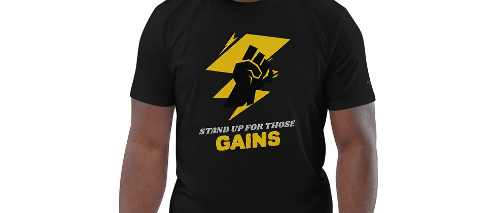 Mens Black | Stand Up For Gains Fit T-Shirt