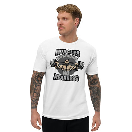 Mens White | No weakness premium T-Shirt