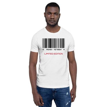 Mens White | Barcode, limited edition premium T-Shirt