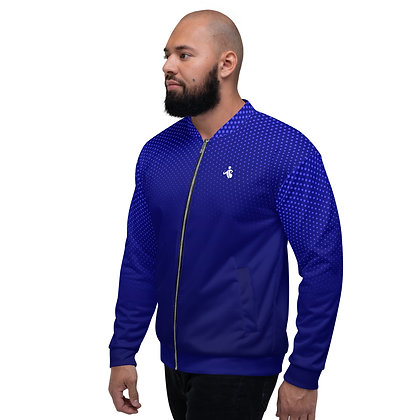 Men's Dotted Blue Bomber Jacket