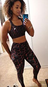 shapeit gym & street wear train like a superhero leggings & bra set