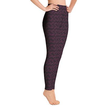 All Purple exercise leggings.