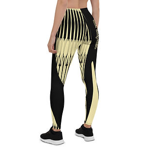 shapeit gym & street wear golden harp leggings
