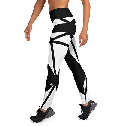 White Diamond exercise leggings.