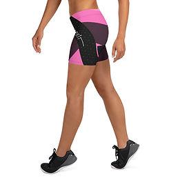 shapeit gym & street wear pink & black mashup booty shorts