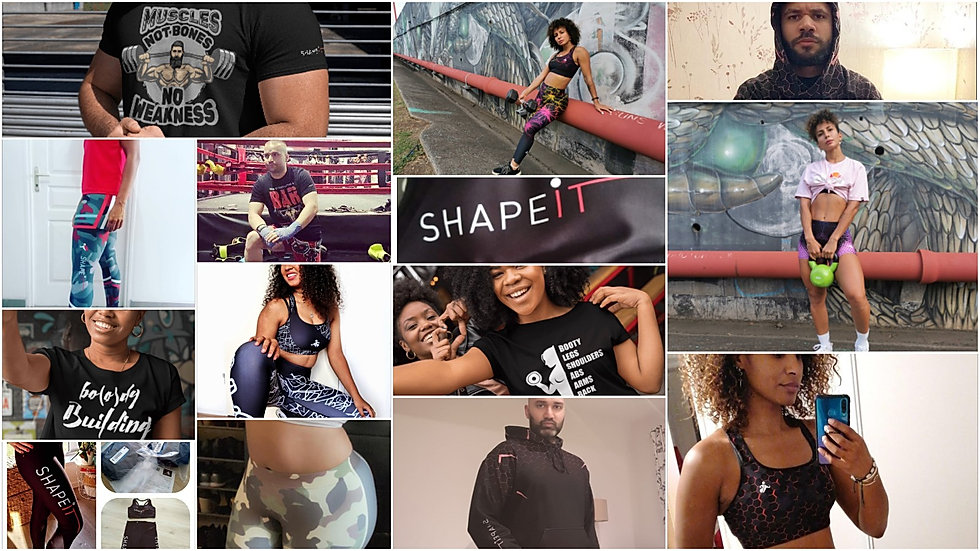 shapeit gym & street wear customer pictures