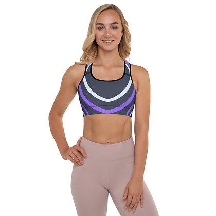 Purple Ribbon precision padded sports bra for extra comfort.