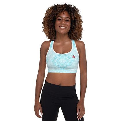 Blue Diamond precision padded sports bra for extra comfort.