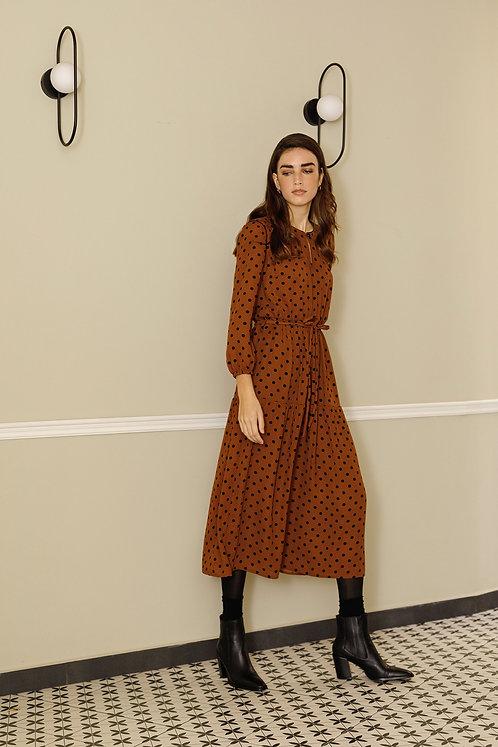 Mélanie Dress (Brown)