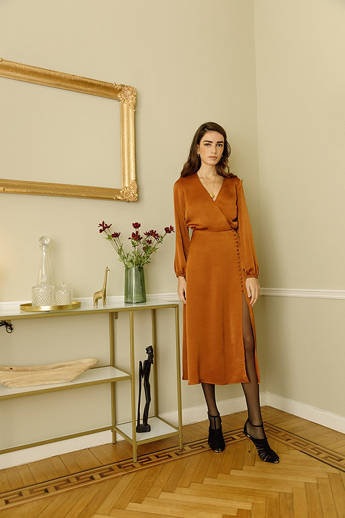 Claire Dress (Terracotta)