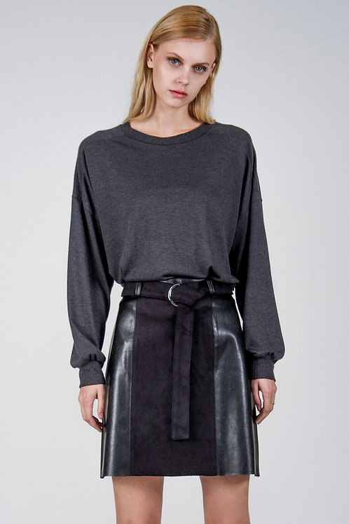 In Between faux leather skirt
