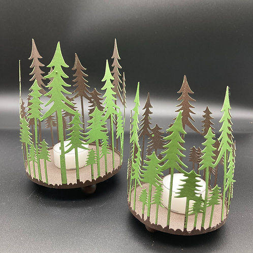 Windlicht Tannenwald 2