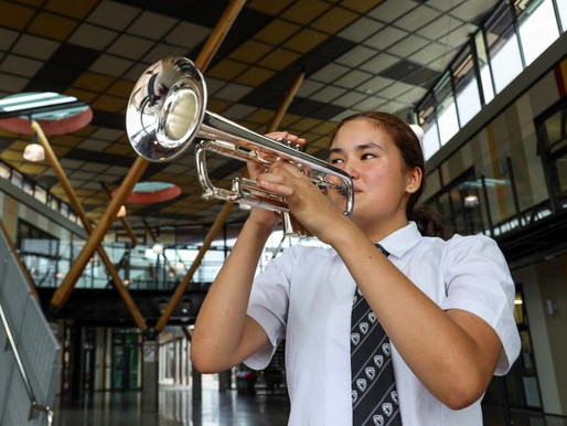 Legacy trumpet donated to Avcol