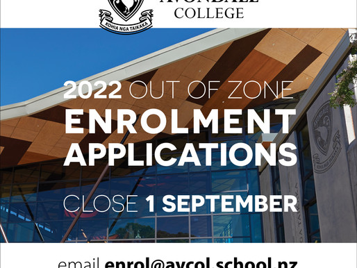 Enrolment applications close this Wed for 2022