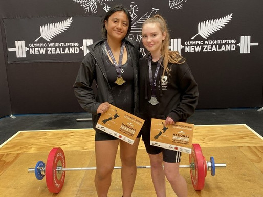 Gold and silver medals for our weightlifting girls