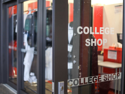 Uniform sales - Opening Hours of College Shop 2021