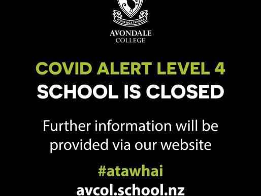 AVONDALE COLLEGE IS CLOSED TO ALL STAFF AND STUDENTS