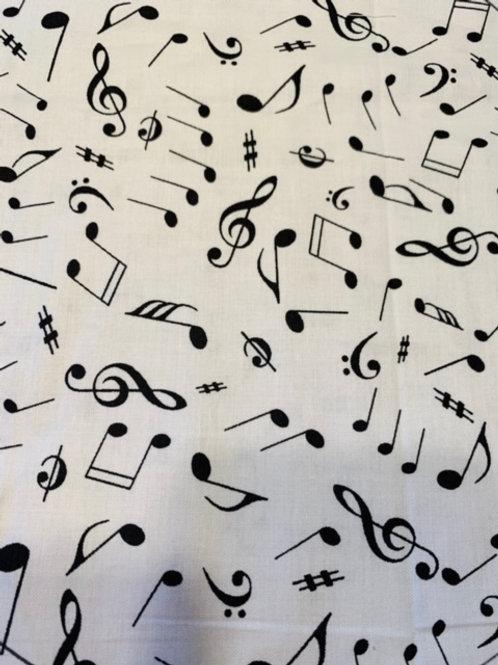 Notes de musique ( noir sur blanc)