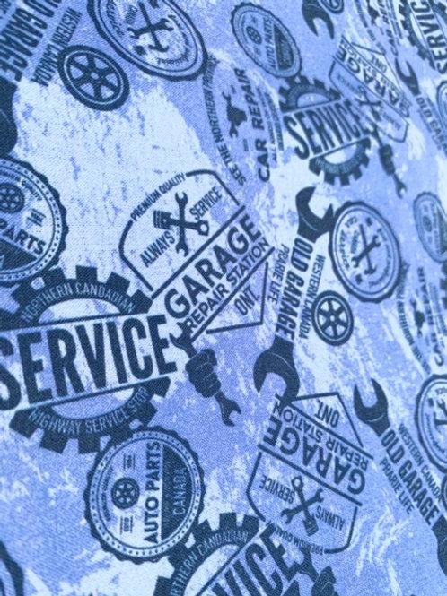Garage service ( fond bleu )