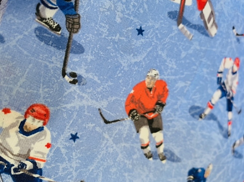 Hockey ( fond bleu )