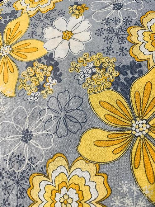 fleuri  jaune-gris