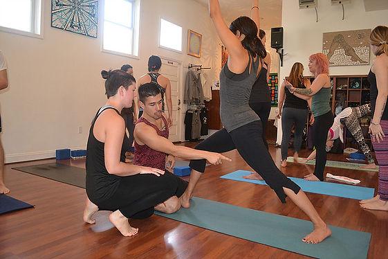 Michael Fong Teaching Yoga