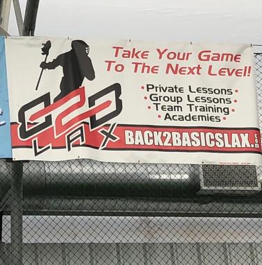 Back2Basics Lacrosse Banner