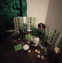 Prosperity Board and Candles