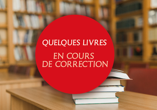 Attention : quelques livres en cours de correction