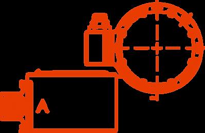 Small Rokubi EtherCAT force torque sensor wireframe illustration