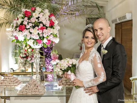 Casamento na Igreja São João Batista e Buffet Jardim Viena em Rudge Ramos SBC
