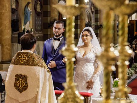 Casamento na Catedral do Carmo em Santo André e Ilha de Capri em São Bernardo