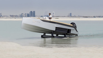 Boat or Tank? Amphibious SuperYacht Tender That Can Climb Mountains.