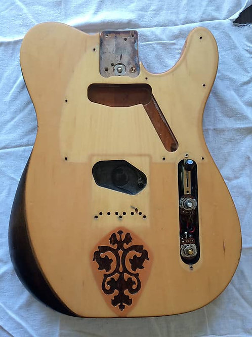 Fender American Standard Telecaster Body 1990 Natural -aftermarket customization
