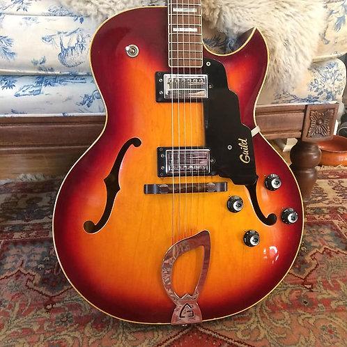 1973 Guild CE-100D Cherry Sunburst