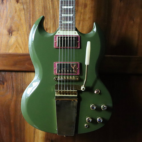2020 Gibson Custom Shop SG Standard 1964 Reissue - Olive Drab - Factory Mods