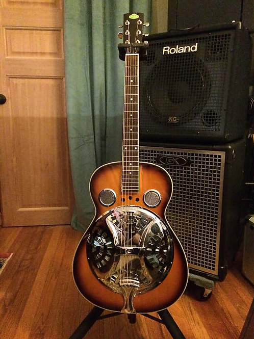 Regal RD-40 Round Neck Resonator Guitar - Tobacco Sunburst