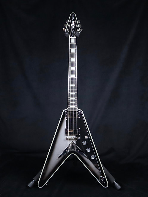 SOLD - 2016 Epiphone Brent Hinds Flying V Custom - Silverburst