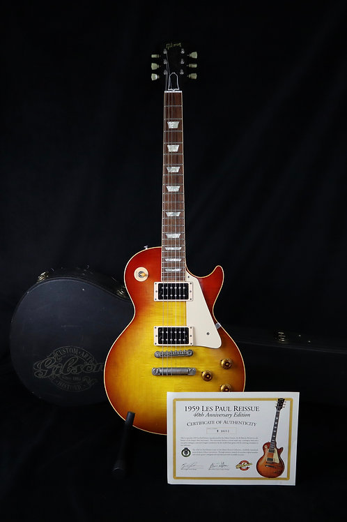 SOLD - 1999 Gibson Les Paul 40th Anniversary '59 Reissue - Iced Tea Burst