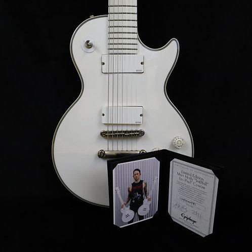 SOLD - Epiphone Matt Heafy Snofall 7-String Les Paul Custom in Alpine White
