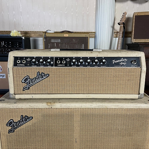 SOLD - 1964 Fender Tremolux piggyback Head and Cabinet