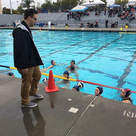 Coach Troy gearing up the 18u Girls for