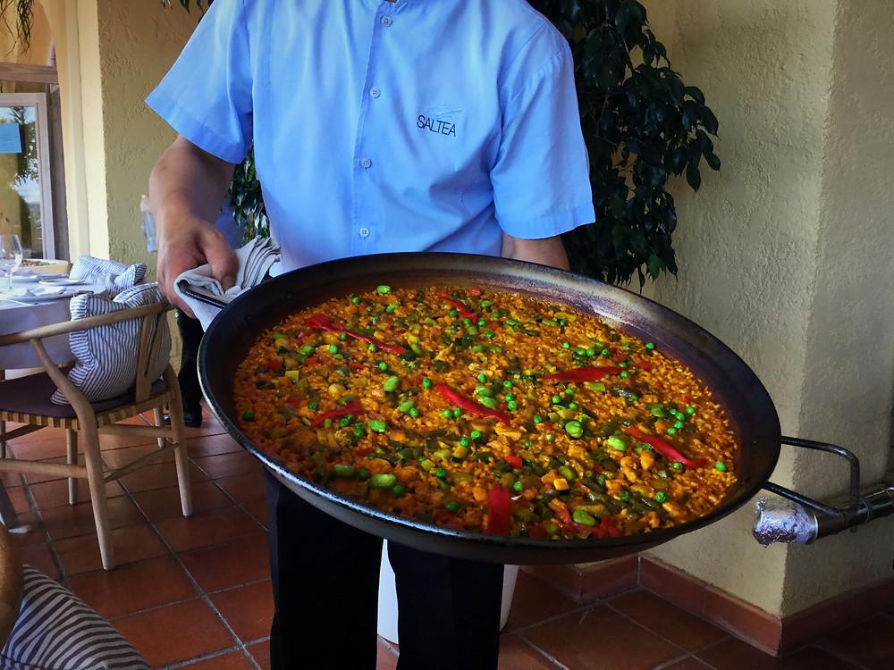 Paella at Saltea Best Sea Food Restaurant in Altea